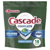 Cascade Auto Dish Detergent with Dawn Lemon Scent Actionpacs 25CT product image