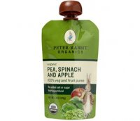 Peter Rabbit Organics Pea, Spinach & Apple 100% Veg & Fruit Puree 4.4oz Pouch product image