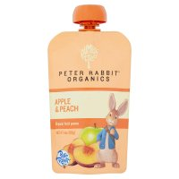 Peter Rabbit Organics Peach & Apple Fruit Snack 4oz Pouch product image