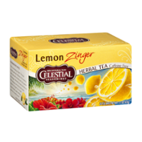 Celestial Seasonings Lemon Zinger Caffeine Free Herbal Tea Bags 20CT PKG product image
