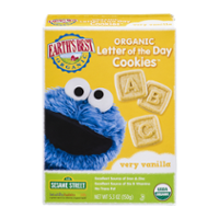 Earth's Best Organic Letter of the Day Cookies Very Vanilla 5.3oz Box product image