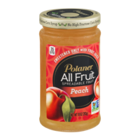 Polaner All Fruit Spreadable Fruit Peach 10oz Jar product image