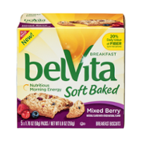 Nabisco belVita Soft Baked Breakfast Biscuits Mixed Berry  5CT Box product image