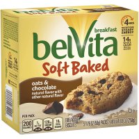Nabisco belVita Soft Baked Breakfast Biscuits Oats & Chocolate  5CT Box product image