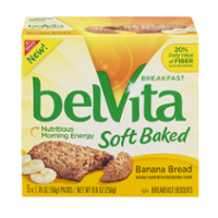 Nabisco belVita Soft Baked Breakfast Biscuits Banana Bread 5PK Box product image