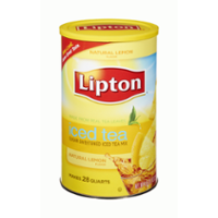 Lipton Natural Lemon Sugar Sweetened Iced Tea Mix Makes 28QTS Can product image