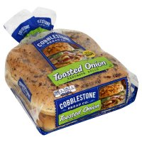 Cobblestone Bread Co. Sandwich Rolls Toasted Onion 6CT 18oz product image