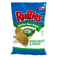 Ruffles Potato Chips Sour Cream & Onion 8.5oz Bag product image