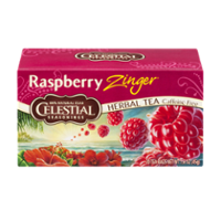 Celestial Seasonings Herbal Tea Caffeine Free Raspberry Zinger Tea Bags 20CT Box product image