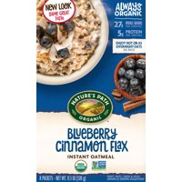 Nature's Path Organic Optimum Power Blueberry Cinnamon Flax Hot Oatmeal 8CT Box 11.2oz product image