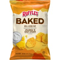 Ruffles Baked Potato Crisps Cheddar & Sour Cream 6.25oz Bag product image