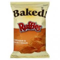 Ruffles Baked Potato Crisps Cheddar & Sour Cream 6.25oz Bag product image