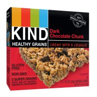 KIND Gluten Free Granola Bars Dark Chocolate Chunk 5CT Box 6.2oz product image