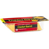 Cracker Barrel Cracker Cuts Extra Sharp Cheddar  24 Cracker Cuts 7oz PKG product image