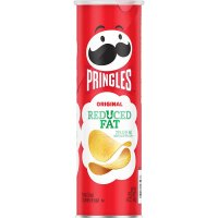 Pringles Potato Crisps Reduced Fat Original 4.9oz Can product image