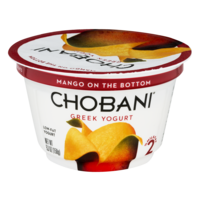 Chobani 2% Greek Yogurt Mango On The Bottom 5.3oz Cup product image