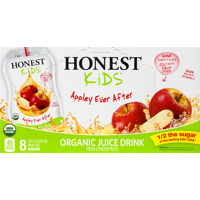 Honest Kids Organic Juice Drink Pouches Appley Ever After 8CT of 6.75oz EA product image