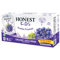 Honest Kids Goodness Grapeness Organic Juice Pouches 8CT of 6.75oz EA product image