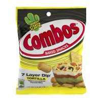 Combos Baked Snacks 7 Layer Dip Tortilla 6.3oz Bag product image
