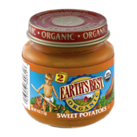 Earth's Best Organic Stage 2 Sweet Potatoes 4oz Jar product image