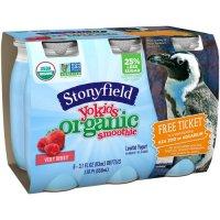 Stonyfield Organic YoKids sMOOthie Lowfat Yogurt Very Berry 6CT 18.6oz product image