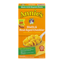 Annie's Homegrown Shells & Real Aged Cheddar Macaroni & Cheese 6oz Box product image