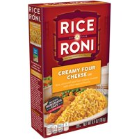 Rice A Roni Creamy Four Cheese Rice Mix 6.4oz Box product image