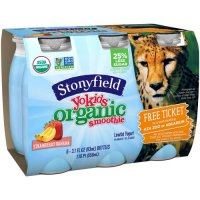 Stonyfield Organic Kids Smoothie Lowfat Yogurt Strawberry Banana 6CT 18.6oz product image