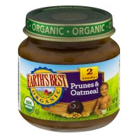 Earth's Best Organic Baby Food 2nd Prunes & Oatmeal 4oz Jar product image