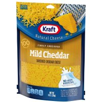Kraft Shredded Mild Cheddar Cheese 8oz Bag product image