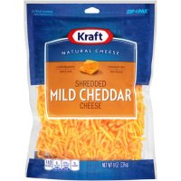 Kraft Shredded Mild Cheddar Cheese 8oz Bag product image
