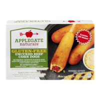 Applegate Naturals Corn Dogs Uncured Beef Gluten-Free 4CT 10oz Box product image