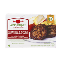 Applegate Naturals Breakfast Sausage Patties Chicken & Apple 6CT 7oz Box product image