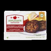 Applegate Naturals Breakfast Sausage Patties Chicken & Apple 6CT 7oz Box product image