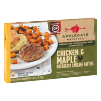Applegate Naturals Breakfast Sausage Patties Chicken & Maple Patties 6CT 7oz Box product image