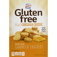 Lance Gluten Free Bite Size Sandwich Crackers Cheddar Cheese 5oz Box product image
