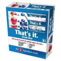 That's It Fruit Bar Apple+Blueberries 1.2oz Bar 5CT Box product image