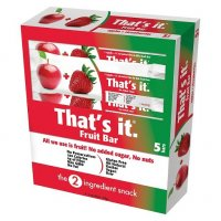 That's It Fruit Bar Apple+Strawberries 1.2oz Bar 5CT Box product image