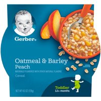 Gerber Breakfast Buddies Oatmeal & Barley Peach 4.5oz PKG product image