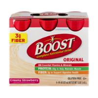 Boost Complete Nutritional Drink Original Creamy Strawberry 8oz EA 6PK product image