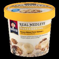 Quaker Real Medleys Super Grains Banana Walnut Oatmeal 2.46oz Cup product image