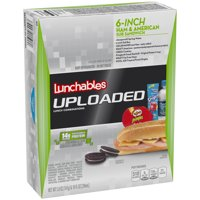 Lunchables Uploaded 6-Inch Ham & American Sub Sandwich Lunch Combination 150z Box product image