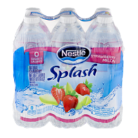Nestle Pure Life Splash Water Strawberry Melon 6PK of 16.9oz Bottles product image