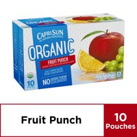 Capri Sun Organic Juice Drink Pouches Fruit Punch 10CT of 6oz EA product image