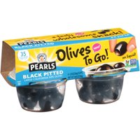 Pearls Olives To Go! Black Pitted Large California Ripe Olives 4PK 4.8oz product image