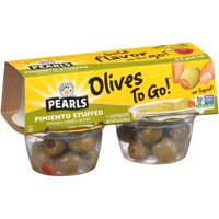 Pearls Olives To Go! Pimiento Stuffed Spanish Green Olives 4CT 6.4oz product image
