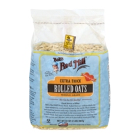 Bob's Red Mill Whole Grain Rolled Oats Extra Thick 32oz Bag product image