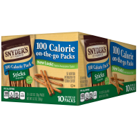 Snyder's Of Hanover 100 Calorie Pack Sticks Pretzels 10PK 9.2oz product image