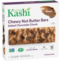 Kashi Chewy Nut Butter Bars Salted Chocolate Chunk 5 Bar Box 6.15oz product image