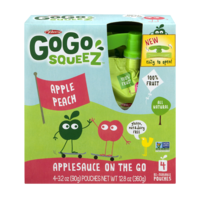 Materne GoGo Squeez Apple Peach Applesauce On The Go 3.2oz Pouch 4PK product image